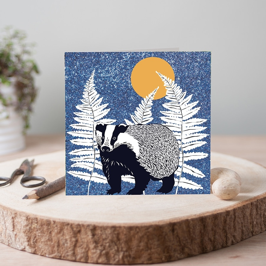 wilder badger card blue