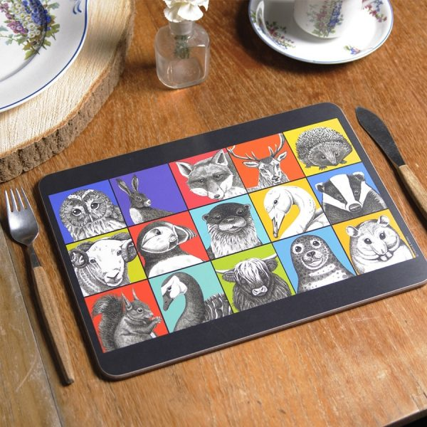Animal Ink tablemats