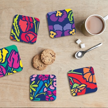 Funky Floral coasters