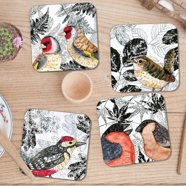 Leaf it Out coasters