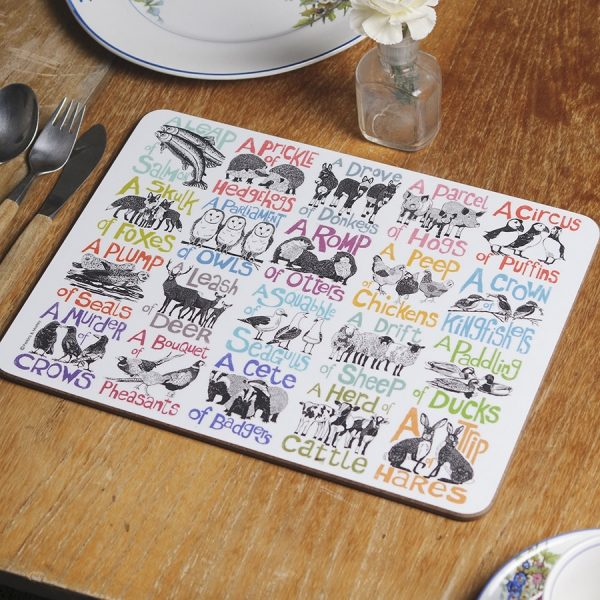 Collective noun tablemats