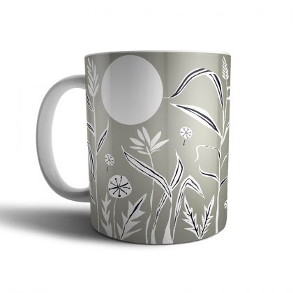 Hedgehog mug back view