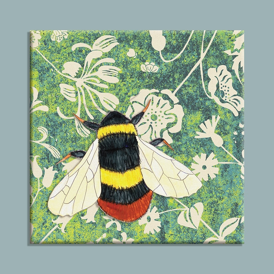 Wild Wood Bumble Bee canvas print