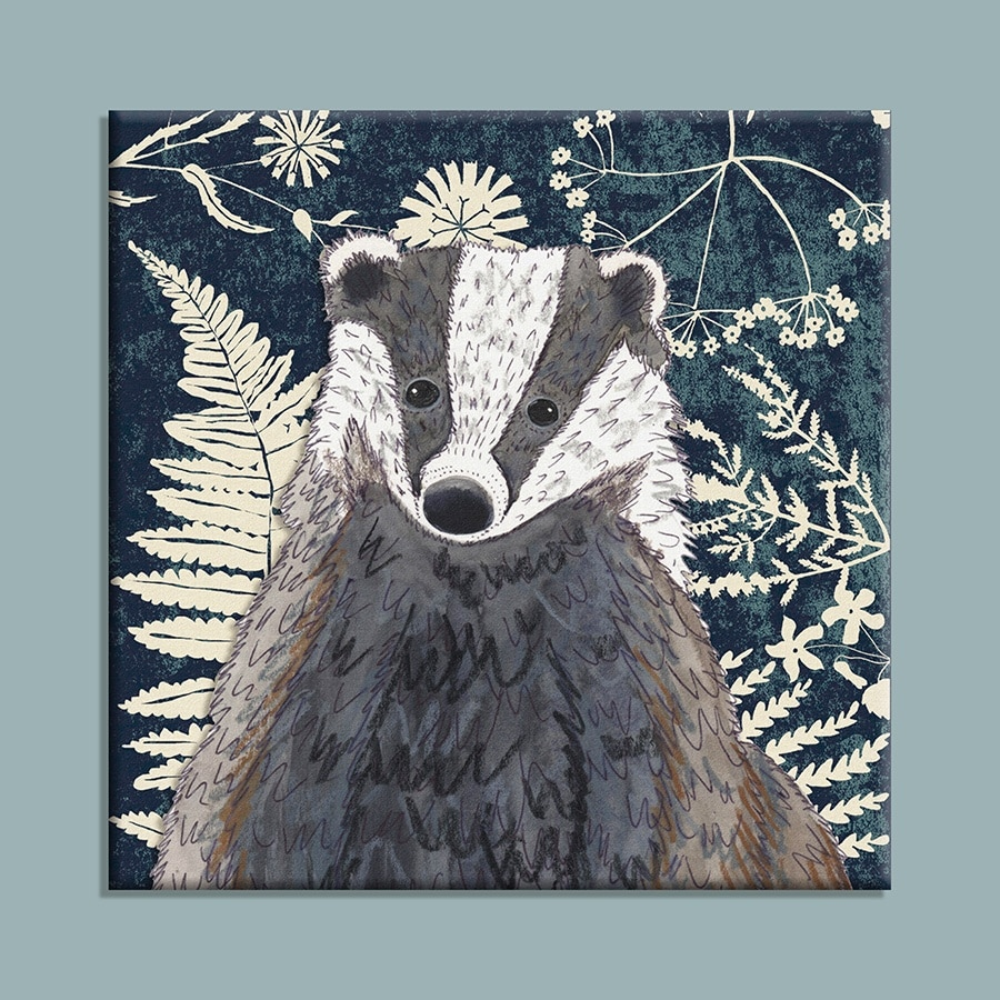 Wild Wood Badger canvas print