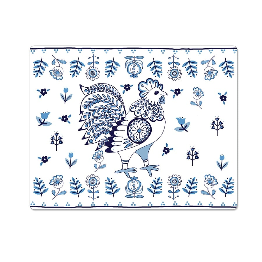Delft Rooster tablemat